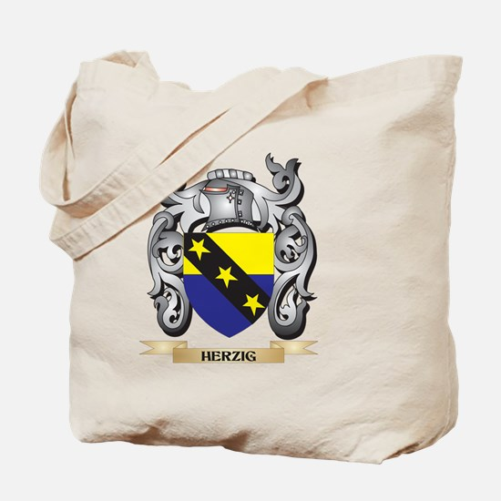 Herzig Coat of Arms - Family Crest Tote Bag
