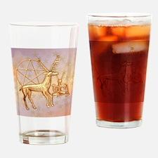 Gold Deer, Pentacle, &  Gold Cernun Drinking Glass