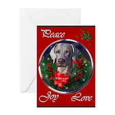 Weimaraner Christmas Greeting Card