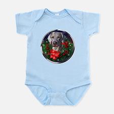 Weimaraner Christmas Infant Bodysuit