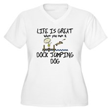 Life is Great Dock Jumping Plus Size T-Shirt