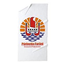 French Polynesia COA.png Beach Towel