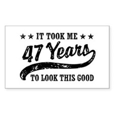 Funny 47th Birthday Decal