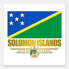 Solomon Islands (Flag 10)2.png Square Car Magnet 3