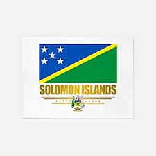 Solomon Islands (Flag 10)2.png 5'x7'Area Rug