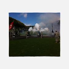 Field Artillery Salute Throw Blanket
