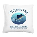 Setting Sail Square Canvas Pillow