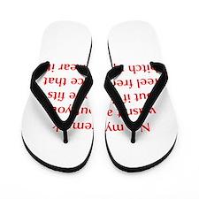 no-my-remark-opt-red Flip Flops
