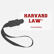 harvard-law-fresh-crimson Luggage Tag