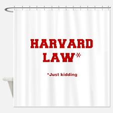 harvard-law-fresh-crimson Shower Curtain
