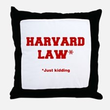 harvard-law-fresh-crimson Throw Pillow