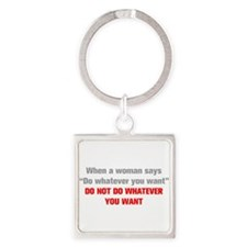 when-a-woman-akz-gray-red Keychains