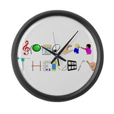 speech.png Large Wall Clock