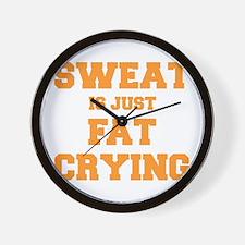 sweat-is-just-fat-crying-fresh-orange Wall Clock