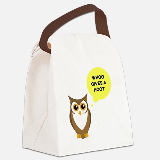 Funny Owl lovers Canvas Lunch Bag
