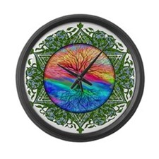 Tree of Life Calming Large Wall Clock