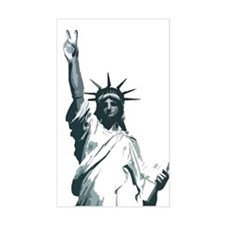 statue of peace Rectangle Decal