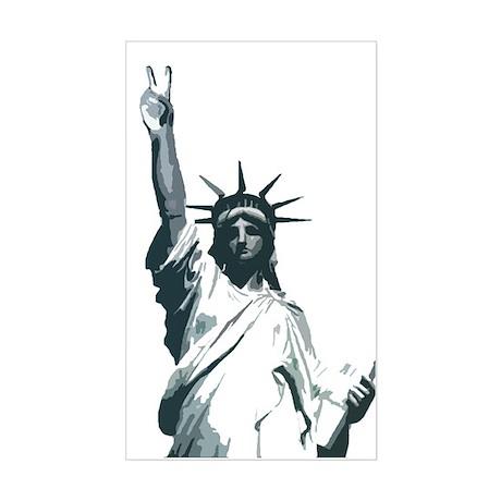 statue of peace Rectangle Sticker