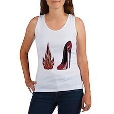 Red Hot Stiletto Shoe Art Tank Top
