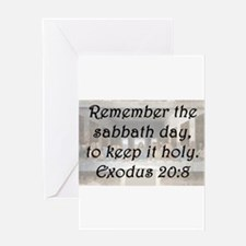 Exodus 20:8 Greeting Card
