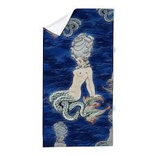 Little Rococo mermaid Beach Towel