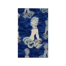Little Rococo mermaid 3'x5' Area Rug