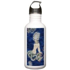 Little Rococo mermaid Water Bottle