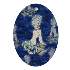 Little Rococo mermaid Ornament (Oval)