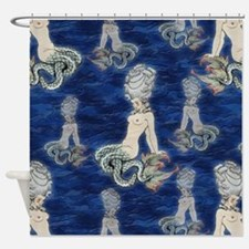 Little Rococo mermaid Shower Curtain