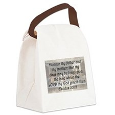 Exodus 20:12 Canvas Lunch Bag