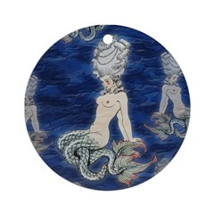Little Rococo mermaid Ornament (Round)