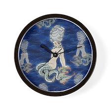 Little Rococo mermaid Wall Clock