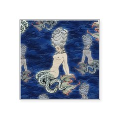Little Rococo mermaid Square Sticker 3