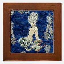 Little Rococo mermaid Framed Tile