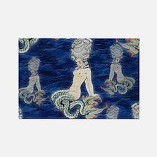 Little Rococo mermaid Rectangle Magnet