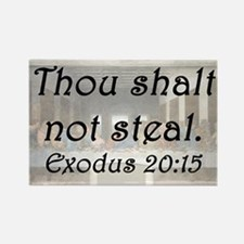 Exodus 20:15 Rectangle Magnet