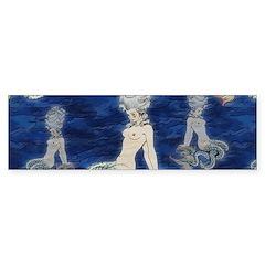 Little Rococo mermaid Bumper Sticker
