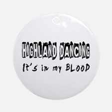Highland Dancing dance Designs Ornament (Round)