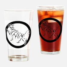 New Shotokan Tiger Drinking Glass