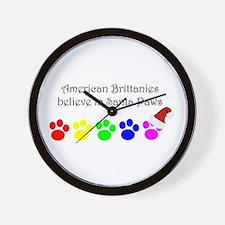 American Brittanies Believe Wall Clock
