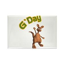 G'Day Australian Kangaroo Rectangle Magnet