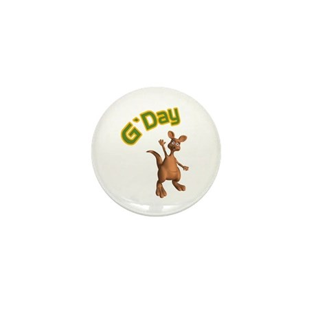 G'Day Australian Kangaroo Mini Button