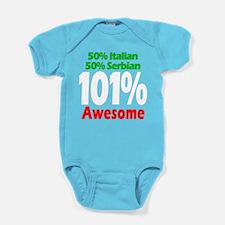 Italian - Serbian Baby Bodysuit
