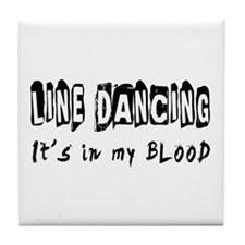 Line Dancing dance Designs Tile Coaster