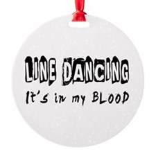 Line Dancing dance Designs Ornament