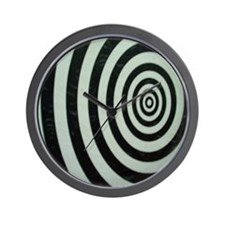 Black and White Bullseye Wall Clock