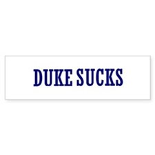 Duke Sucks Bumper Bumper Sticker