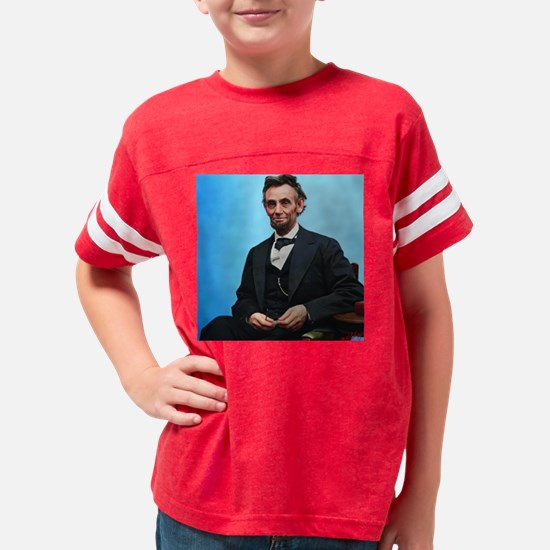 10X10 Abe Lincoln Color Print Youth Football Shirt