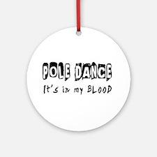 Pole Dance dance Designs Ornament (Round)