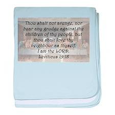 Leviticus 19:18 baby blanket